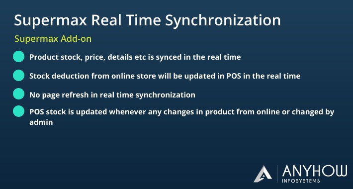 Supermax Magento 2 POS Real Time Synchronization