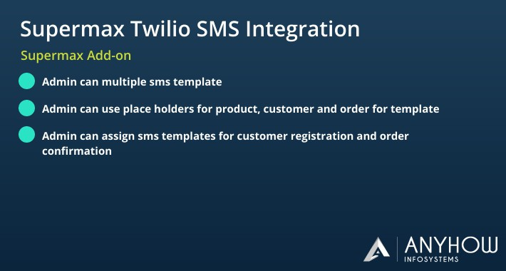 Supermax Opencart POS Twilio Integration